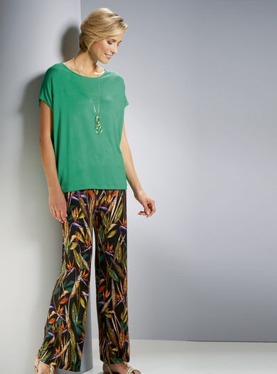 3869 - Bird Of Paradise - Soft Stretch Palazzo Trousers