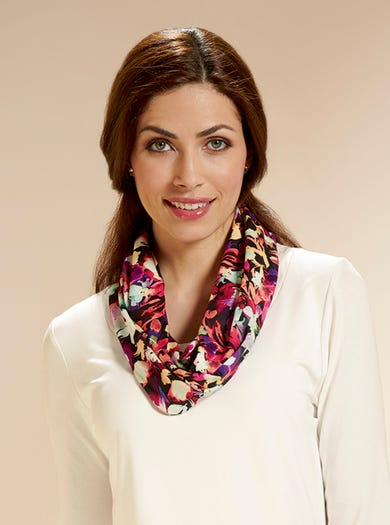 4148 - Floral - Jersey Infinity Scarf