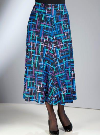 4166 - Cobalt Blue - Stretch Jersey Skirt