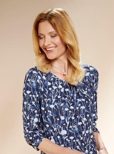 4173 - Cornflower Blue - Easy-fit Jersey Dress