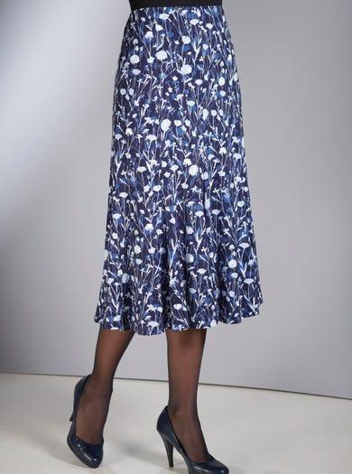 4176 - Cornflower Blue - Comfy Jersey Skirt