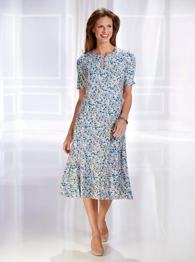 4203 - Kiesel - Luxuriöses Jerseykleid