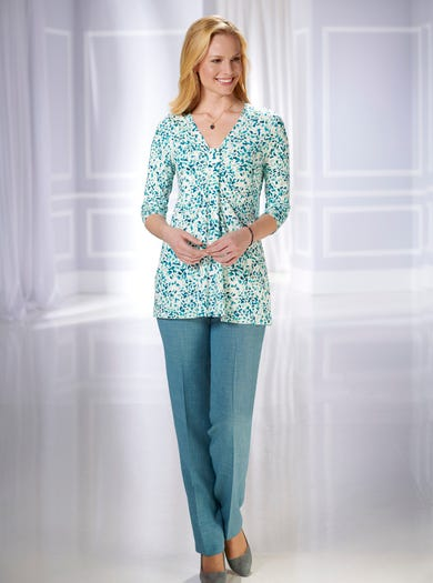 4232 - Petals - Soft Stretch Jersey Tunic