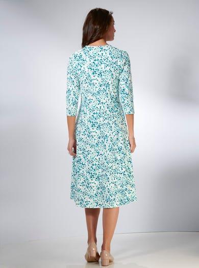 4233 - Pétales - Magnifique robe en jersey stretch
