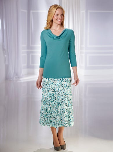 4236 - Petals - Soft Stretch Jersey Skirt