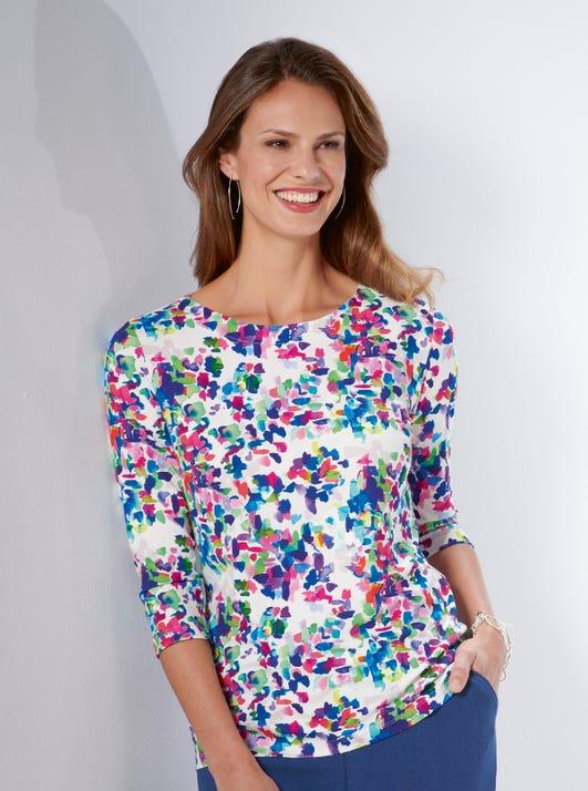 Shirt aus fröhlichem Jerseystoff