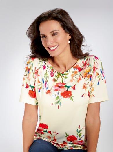 4272 - Bocage fleuri Honfleur - T-shirt en jersey extra doux imprimé