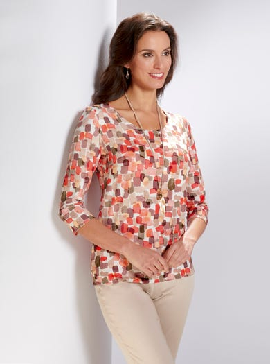 4280 - Square Route - Luxury Jersey Top