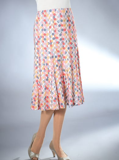 4336 - Coral - Lined Jersey Skirt