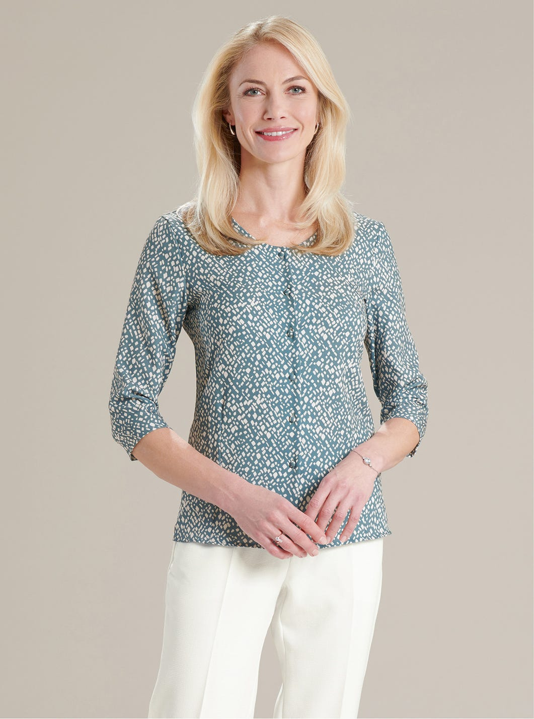 Sophisticated Printed Blouse