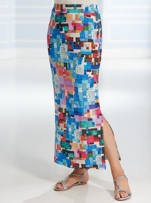 Pull-on Jersey Maxi Skirt