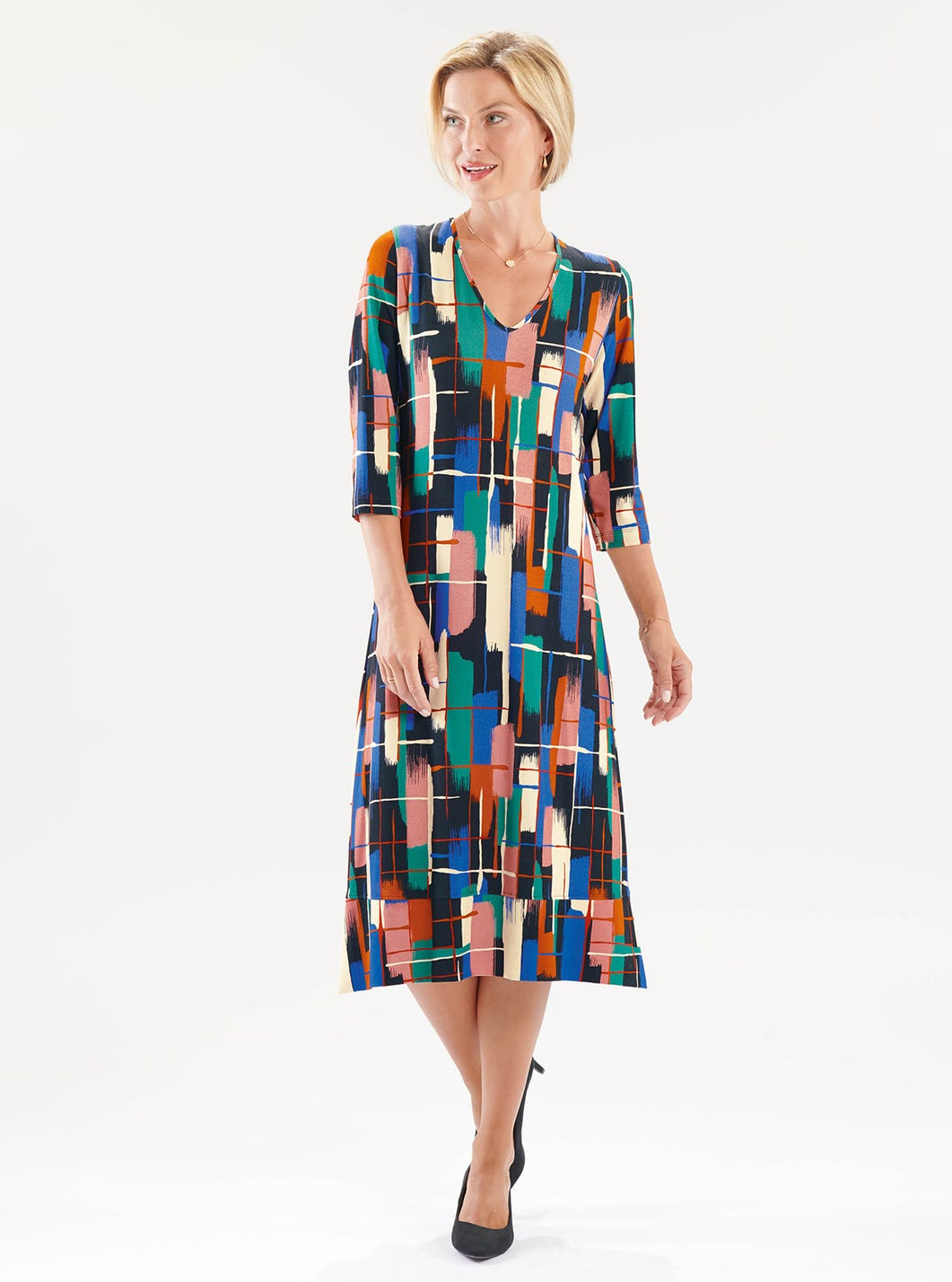 Relaxed Printed Jersey Dress