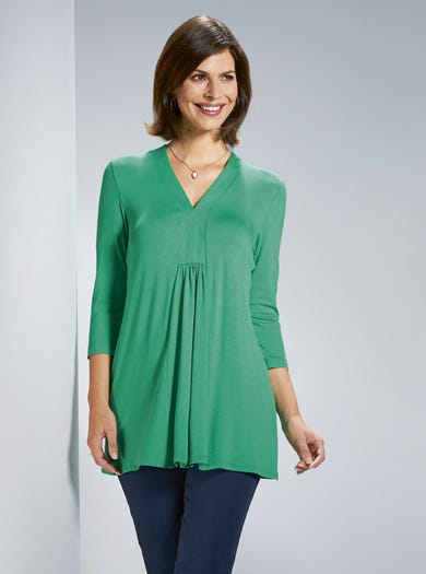 4642 - Green - Easy Soft Jersey Tunic