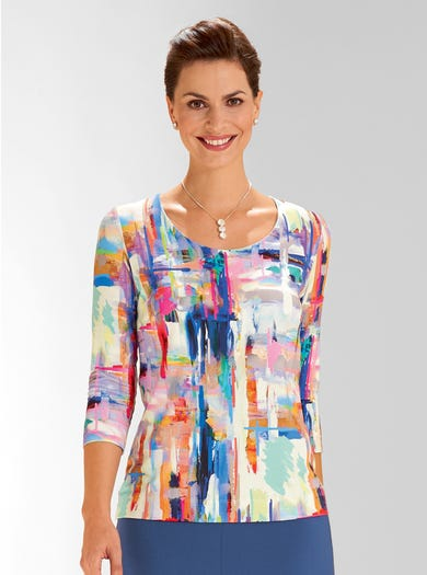 4712 - Abstract - Mooie jersey top