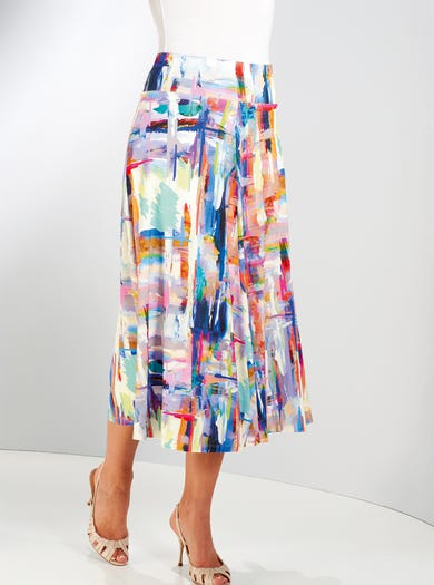 4716 - Abstract - Silky Jersey Skirt