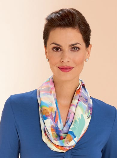 4718 - Abstract - Silky Jersey Infinity Scarf