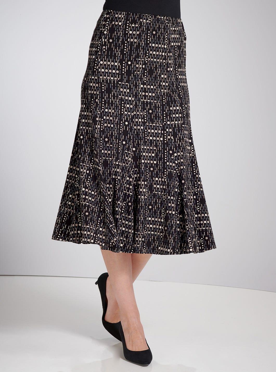 Fine Jersey Print Skirt