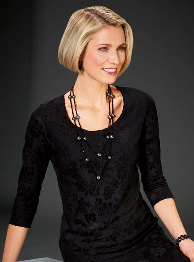 Luxury Velvet Jacquard Evening Top