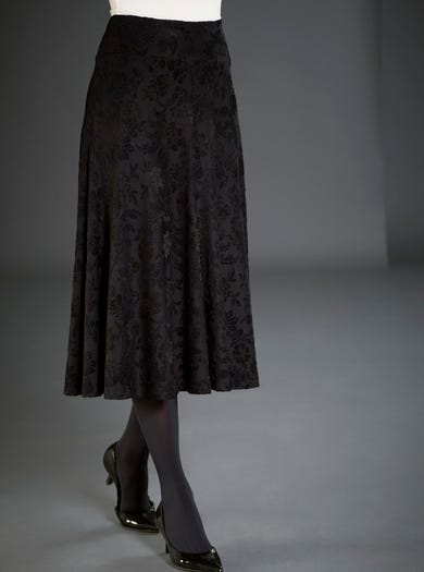 Velvet Jacquard Evening Skirt