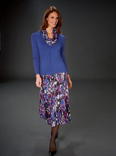 4896 - Cobalt Blue - Easy Jersey Skirt
