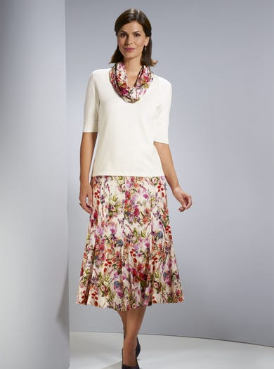 4926 - Meadow Rose - Stretch Jersey Skirt