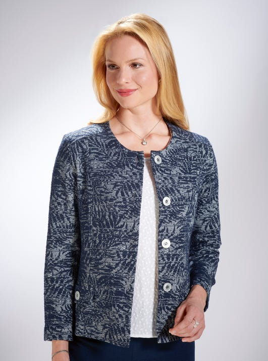 Soft Stretch Jacquard Jacket