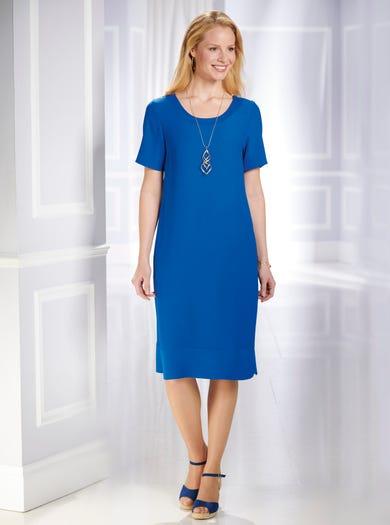 5043 - Bleu Cobalt - Superbe robe housse infroissable unie
