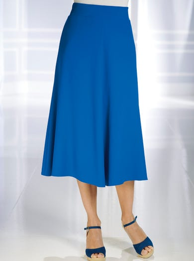 5046 - Cobalt Blue - Uncrushable Crepe Skirt