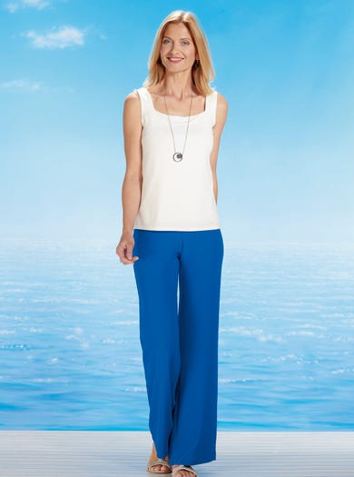 5047 - Cobalt Blue - Easy Palazzo Trousers