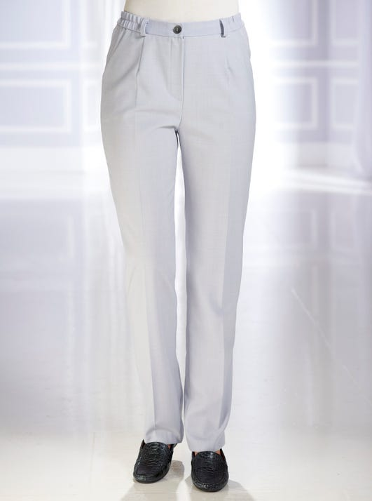 Tailored Classic Wool Blend Trousers
