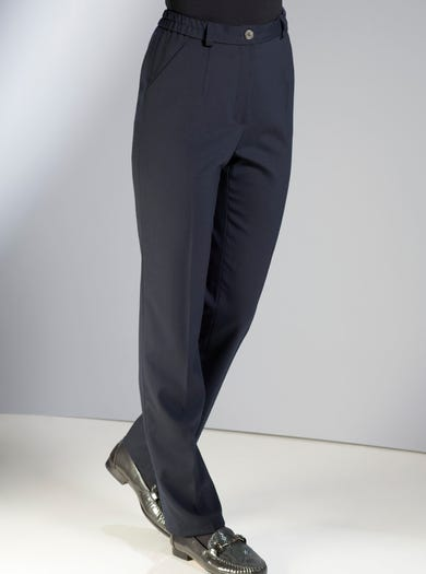 5049 - French Navy - Tailored Classic Wool Blend Trousers