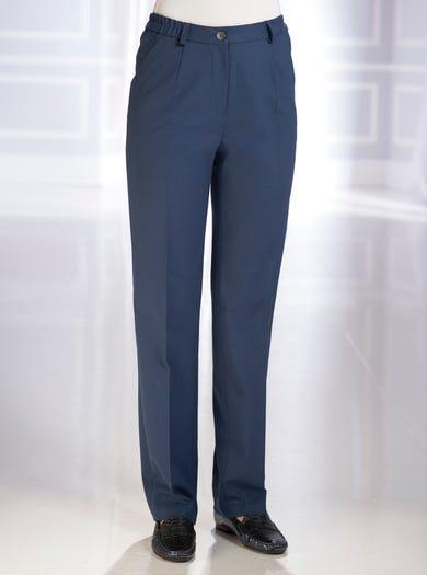 5049 - Marineblau - Klassische Schneiderhose aus angenehmem Wollmix