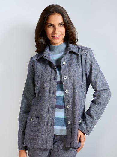 5215 - Navy - Uncrushable Wool-blend Jacket