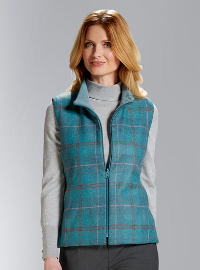 5224 - Check - Pure Wool Tweed Gilet