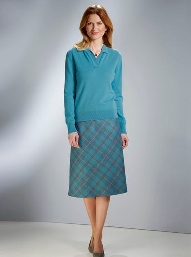 5227 - Check - Pure Wool skirt