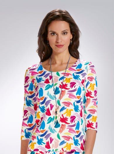 5310 - Féérie de couleurs - Haut raffiné en jersey imprimé