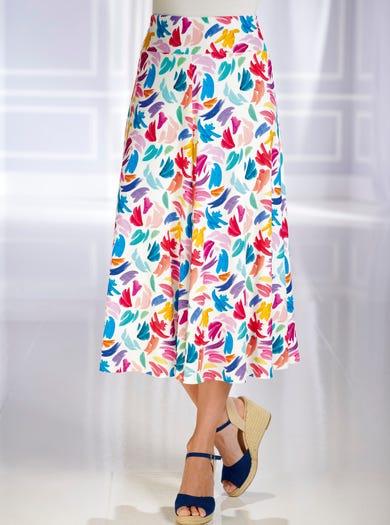 5316 - Féérie de couleurs - Jupe en doux jersey imprimé