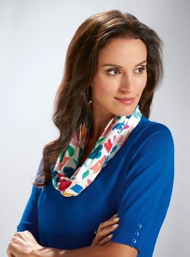 5318 - Multi kleur - Eindeloze sjaal