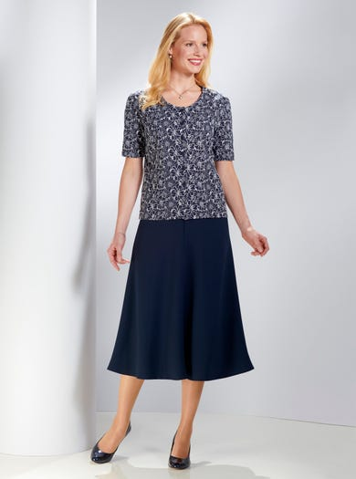 5321 - Navy/Donkerblauw - Puur katoenen blouse