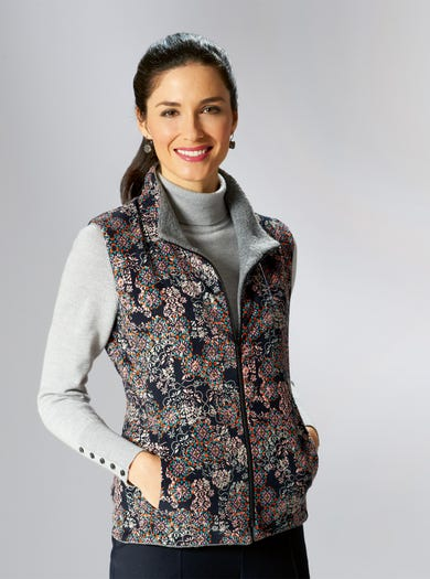 Cosy Reversible Liberty Gilet