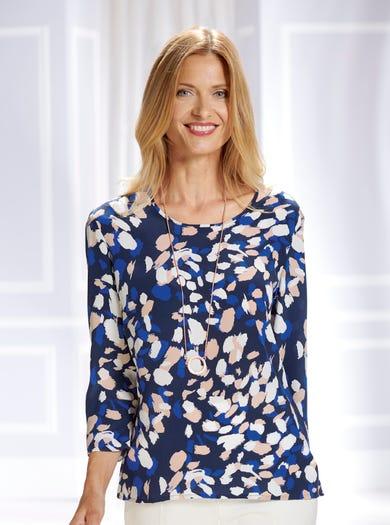 5351 - Marine Deauville - Somptueuse blouse en crêpe de soie