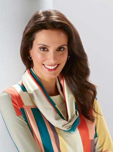 5399 - Colour Block - Jersey Infinity Scarf