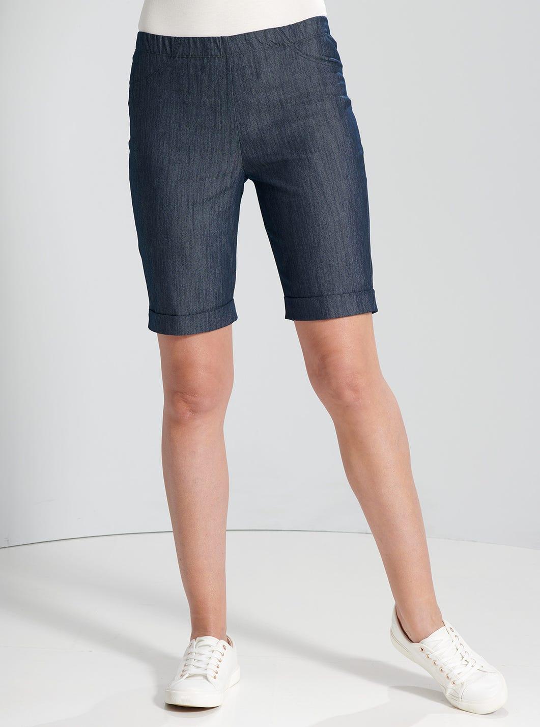 Stretch Denim City Shorts