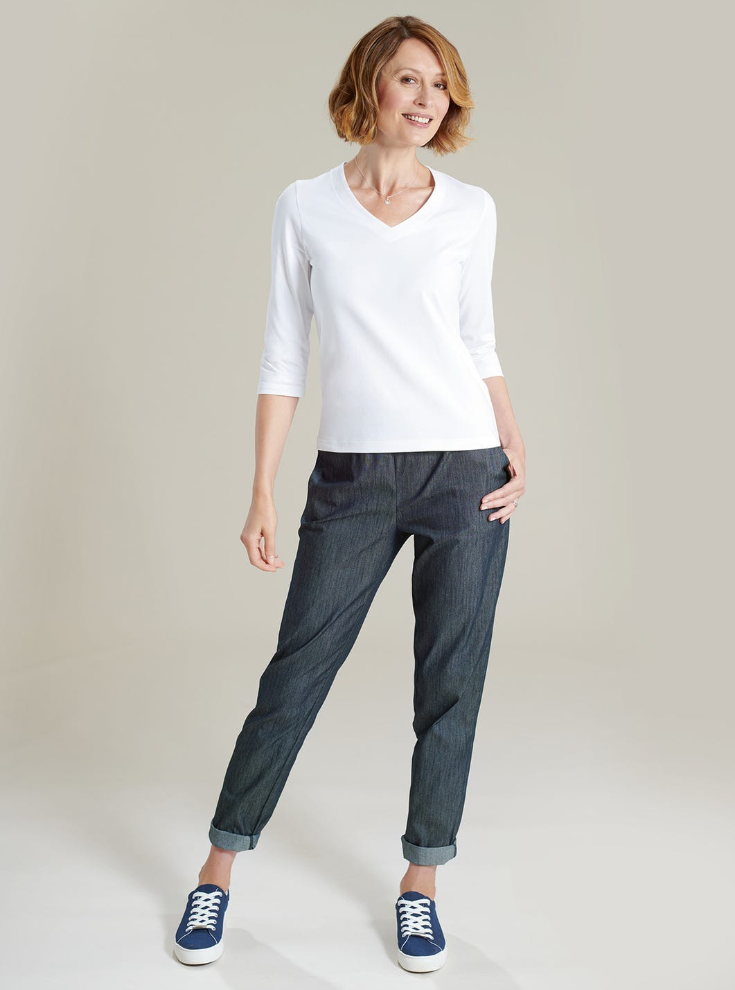 Relaxed Cotton-rich Trousers