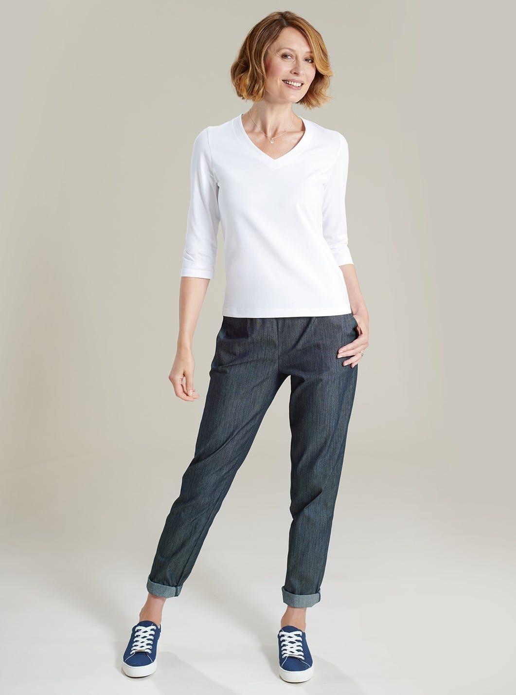 Pantalon riche en coton décontracté