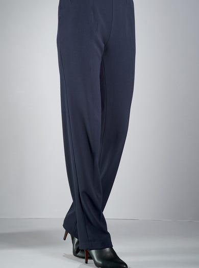 5519 - Midnight - Pull-on Wool Trousers