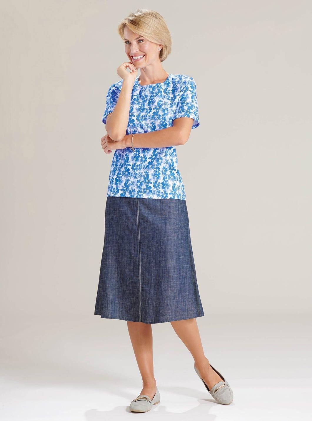 Easy Denim-look Skirt