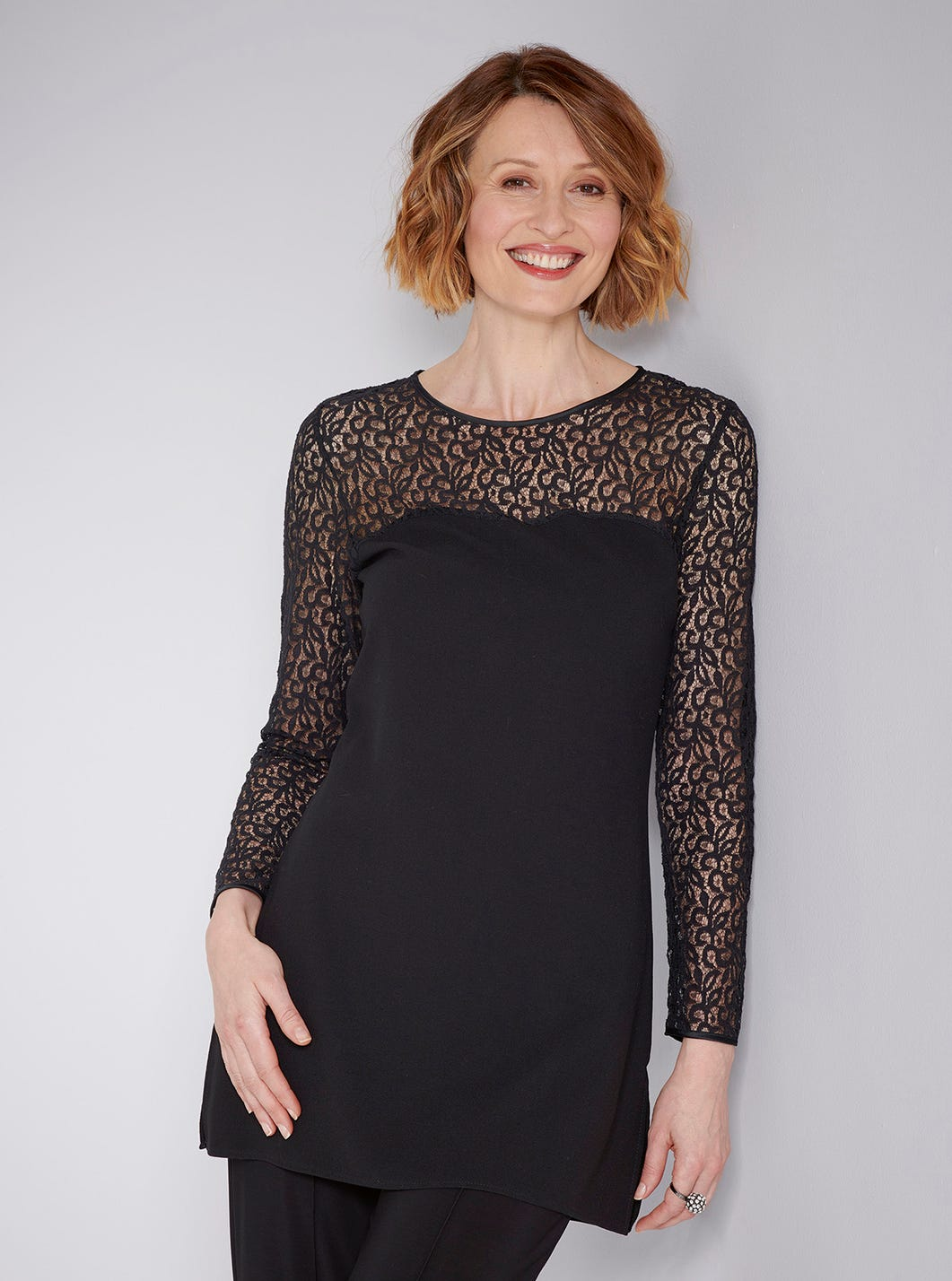 Black Lace Tunic