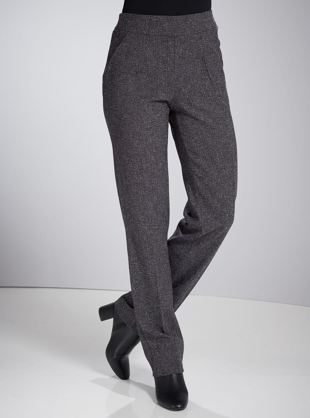 Uncrushable Tweed-look Trousers