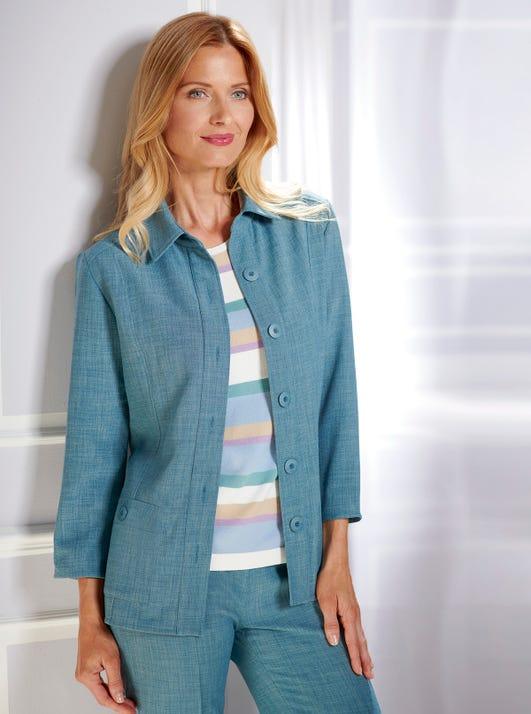 Uncrushable Linen-Look Jacket